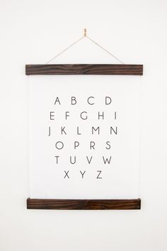 ABC Wall Hanging | B