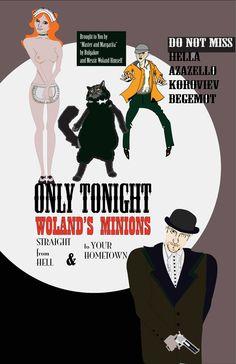 Poster/ Illustration for M. Bulgakov's Master And Margarita