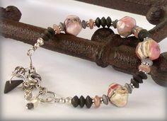 Rhodochrosite Bracelet - Adjustable Length