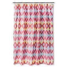 Shower Curtain Sabrina Soto Diamond Pink Blue Yellow