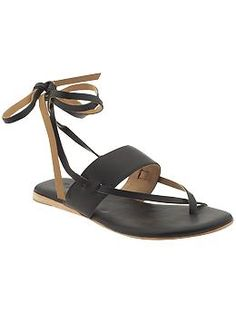 Fabulous flat sandals!  These would be so cute with shorts/a dress!