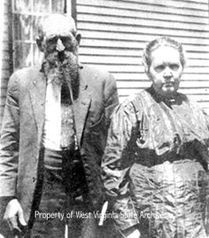 """Hatfield and McCoy feud--""""Devil Anse"""" Hatfield and wife Levicy Chafin Hatfield.my great great great great grandmother Mary Chafin Webb was the sister in law of Devil Hatfield and the sister of his wife Levicy. Vintage Pictures, Old Pictures, Old Photos, World History, Family History, Hatfield And Mccoy Feud, Hatfields And Mccoys, The Mccoys, Le Far West"""