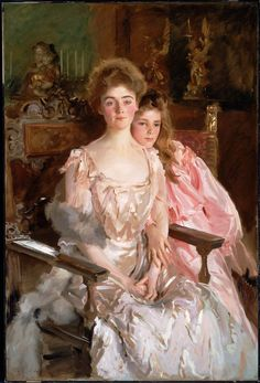 Sargent, John Singer - Mrs. Fiske Warren (Gretchen Osgood) et sa fille Rachel - Museum of Fine Arts, Boston