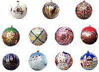 Christmas Decorations Paper Mache Ornaments Hanging Balls Diameter : 3 inches by ShalinIndia, http://www.amazon.com/dp/B0009WFMYS/ref=cm_sw_r_pi_dp_N4JGqb0JD6Z0H