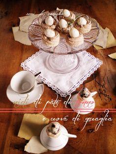 semi di vaniglia: Nidi di pâté di tonno e uova di quaglia