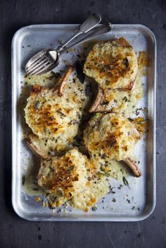 Stuffed Irish Pork Chops... A comforting dish of pork chops stuffed with crispy breadcrumbs & onions. | DonalSkehan.com