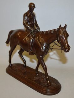 Isidore Jules Bonheur (1827 – 1901), French; a superb bronze cast of Kingsen with jockey. Est. £2,000 – £3,000.