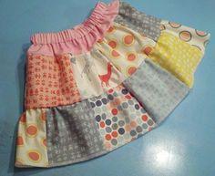 diy patchwork skirt | Hullabaloo Patchwork Skirt | DIY Babies and Kids