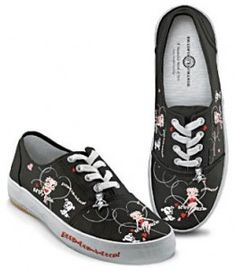 Betty Boop Shoes for Women | The always stylish and sexy Betty Boop and her little dog Pudgy are ...