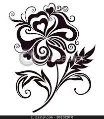 line drawings of flowers - Google Search