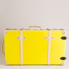 We recently lost our luggage via air travel, there's no way we'd lose this bright shiny yellow piece of luggage.