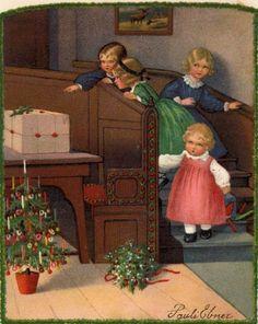 Pauli (Pauline) Ebner (1873-1949): weihnachten, werbe-postkarte