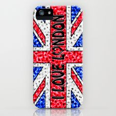 I Love London iPhone Case by Alice Gosling - $35.00