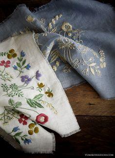 野の花の刺繍
