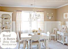 Board & Batten Dining Room Makeover