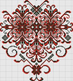Cross Stitch Heart, Cross Stitch Borders, Cross Stitch Designs, Cross Stitching, Cross Stitch Patterns, Folk Embroidery, Embroidery Patterns Free, Loom Patterns, Cross Stitch Embroidery