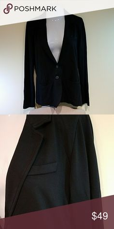 Black Knit Blazer Single-breasted two-button black knit blazer with front pockets. Modal spandex blend. Never worn. The polish of a blazer with the comfort of a sweater. Tart Jackets & Coats Blazers
