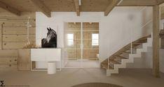 Drewniany minimalistyczny dom   Proj: Elementy   IH - Internity Home Stairs, House, Design, Gardening, Home Decor, Stairway, Decoration Home, Home, Room Decor