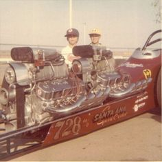 Beautiful dual engine dragster