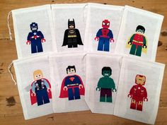 Goody Bags  8 Superhero's Lego Inspired Gift Party Favor by KPortGiftCompany