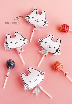 Bunny lollipop holders | asubtlerevelry