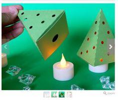 Boompje van karton voor je kunstlichtje.  AK