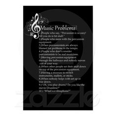 Percussion Problems List Yessssss! Every single one!