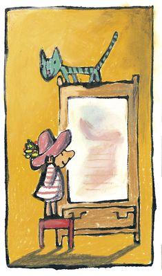 Ilustración de Emilio Urberuaga para el cuento de Alfredo Gómez Cerdá El cartero que se convirtió en carta.  Edelvives edita este cuento para niños de 5 años en la colección Ala Delta.
