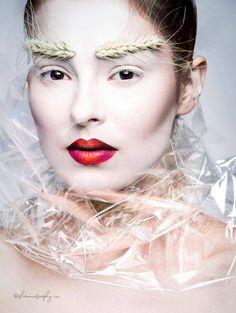 Dana Lazar - Make Up Artist   White   Blanc #makeup #red and #pink lips #beauty #fanatsy