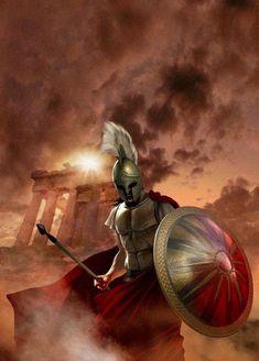 This is Sparta! I shall not run nor retreat but fight or die Greek Mythology Tattoos, Greek And Roman Mythology, Greek Gods, Spartan Warrior, Viking Warrior, Greek History, Ancient History, Gods Of War, Spartan Tattoo