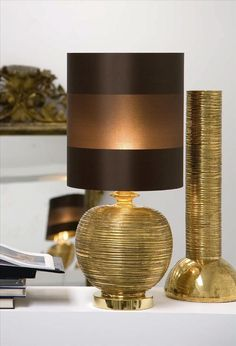 Luxury Designer Gold Plated Table Lamp, sharing luxury designer home decor inspirations and ideas for beautiful living rooms, dinning rooms, bedrooms & bathrooms inc furniture, chandeliers, table lamps, mirrors, art, vases, trays, pillows, accessories & gift courtesy of InStyle Decor Beverly Hills enjoy & happy pinning