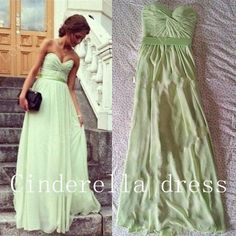 Aline Sweetheart prom dress  Chiffon Prom Dress by CinderellaDress Love the simplicity.