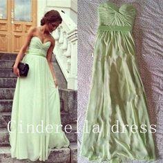 Aline Sweetheart prom dress  Chiffon Prom Dress by CinderellaDress, $89.00