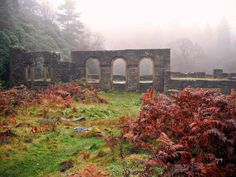 The ruins of Errwood Hall, above the Goyt Valley, Peak district Valley View, Peak District, Derbyshire, Landscape Photographers, Brooklyn Bridge, National Parks, Places To Visit, World, Lakes