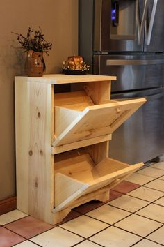 Vegetable Bin Potato Onion Storage - Kitchen Decor - Potatoes and Veggie cabinet Farmhouse Country Bathroom Primitive Bathrooms, Rustic Bathrooms, Diy Home Decor Projects, Wood Projects, Rustic Furniture, Diy Furniture, Furniture Design, Vegetable Bin, Onion Vegetable