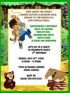 diego birthday   Birthday - Invitation Creations4u by Shana