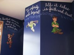 Disney quotes on the walls!