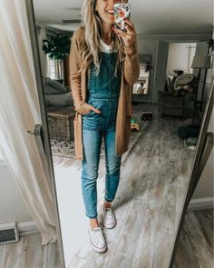 black overall pants. black overall pants. Cute Fall Outfits, Fall Winter Outfits, Autumn Winter Fashion, Casual Outfits, Fashion Outfits, Women's Casual, Overalls Fashion, Black Overalls Outfit, Inspired Outfits