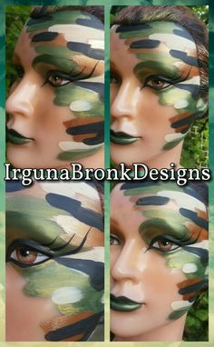 Facepaint military / schmink soldaat