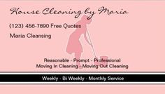 Y Cleaning Services Business Cards Page 1