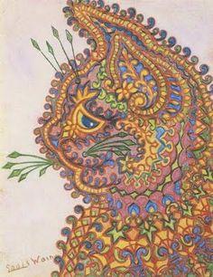 Louis Wain cat - abstract.