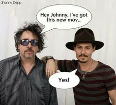 Johnny and Tim Burton