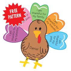 Thanksgiving Turkey Pattern- great for classroom parties.