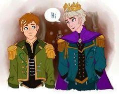 Elsa x Anna genderbend