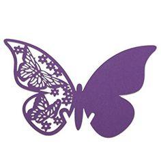 Vakind® 50 PCS Tarjeta de copa de la forma de mariposa de papel (púrpura): Amazon.es: Hogar