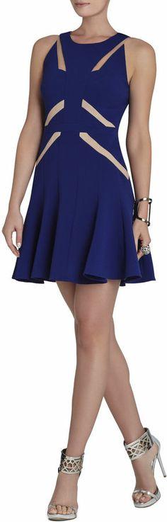 BCBGMAXAZRIA Solie Tulle-Insert Cutout Dress on shopstyle.com