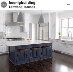 Hale navy island Navy Kitchen Cabinets, White Cabinets, Small Lake Houses, Kitchen Post, Kitchen Ideas, Home Remodeling, Kitchen Remodeling, Kitchen Design, New Homes
