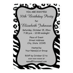 Customizable Invitation made by Zazzle Invitations. 30th Birthday Invitations, 30th Birthday Parties, Birthday Celebration, Create Your Own Invitations, Custom Invitations, Professional Business Card Design, You Are Invited, For Your Party