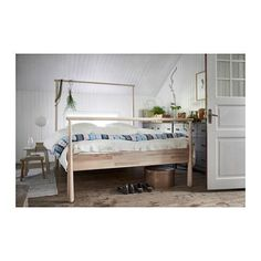 IKEA's just-released GJÖRA bed is nothin' to snooze at. In fact, if you're a stylist or a lover of all things home design (like us!), this multiuse bed will jolt you awake you to different design possibilities as surely as your morning cup of joe. Diy Platform Bed Frame, Interior Ikea, Cama Ikea, Double King Size Bed, Full Bed Frame, Steel Bed Frame, Bed Slats, Bed Base, Under Bed Storage
