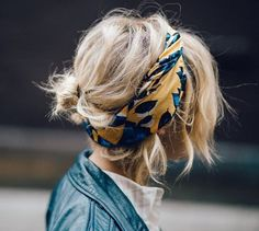 How to wear a scarf, scarf in hair, summer hair styles, easy hair